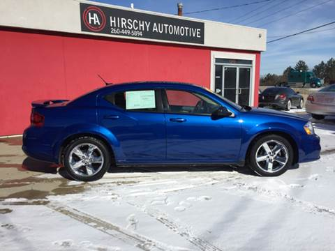 2013 Dodge Avenger for sale at Hirschy Automotive in Fort Wayne IN