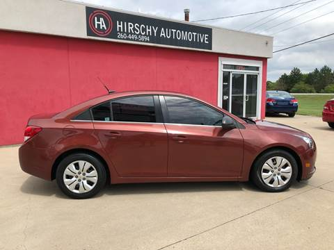 2012 Chevrolet Cruze for sale at Hirschy Automotive in Fort Wayne IN