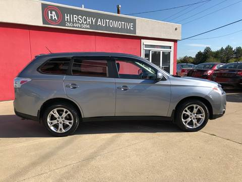 2014 Mitsubishi Outlander for sale at Hirschy Automotive in Fort Wayne IN