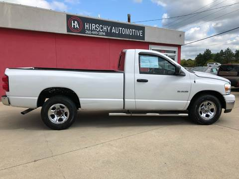 2008 Dodge Ram Pickup 1500 for sale at Hirschy Automotive in Fort Wayne IN