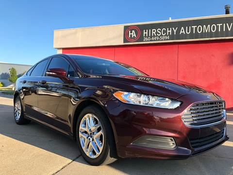 2013 Ford Fusion for sale at Hirschy Automotive in Fort Wayne IN