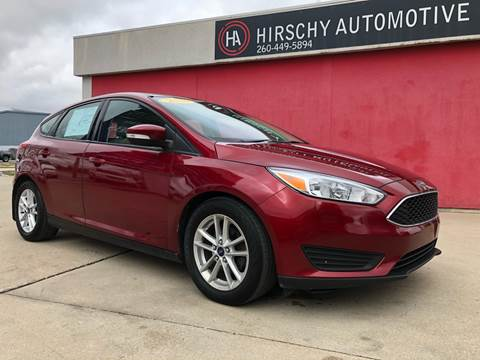 2016 Ford Focus for sale at Hirschy Automotive in Fort Wayne IN