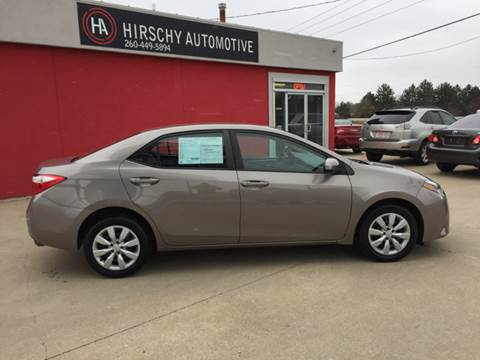 2014 Toyota Corolla for sale at Hirschy Automotive in Fort Wayne IN