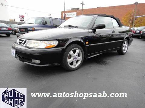 2000 Saab 9-3 for sale at THE AUTO SHOP ltd in Appleton WI