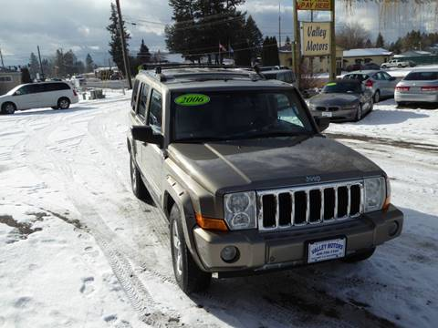 2006 Jeep Commander Limited for sale at VALLEY MOTORS in Kalispell MT