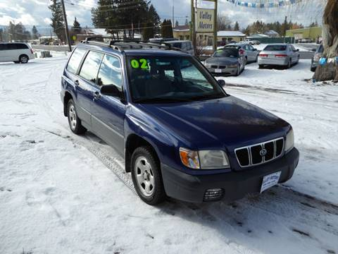 2002 Subaru Forester L for sale at VALLEY MOTORS in Kalispell MT