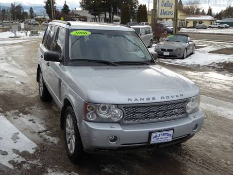 2006 Land Rover Range Rover Supercharged for sale at VALLEY MOTORS in Kalispell MT