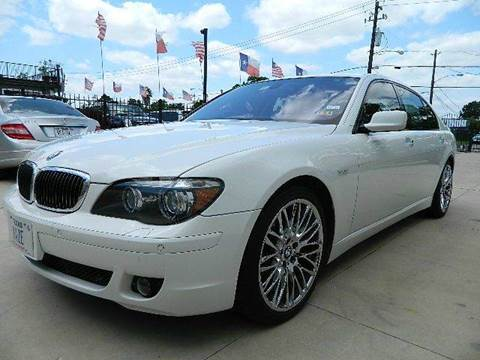 2007 BMW 7 Series for sale at Texas Motor Sport in Houston TX