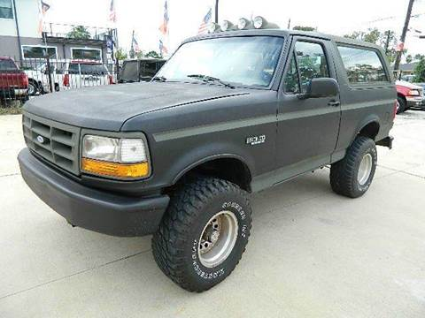 1993 Ford Bronco for sale at Texas Motor Sport in Houston TX