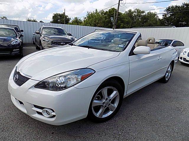 2008 toyota camry solara sle v6 2dr convertible 5a in houston tx texas motor sport. Black Bedroom Furniture Sets. Home Design Ideas