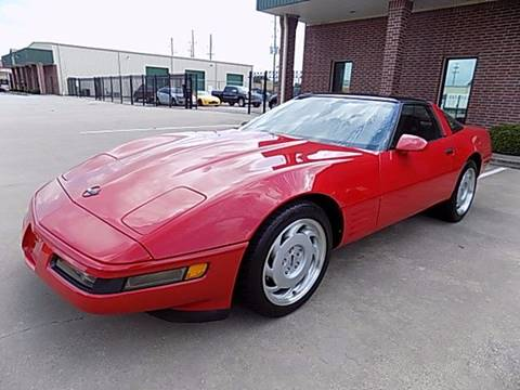 1991 Chevrolet Corvette for sale at Texas Motor Sport in Houston TX