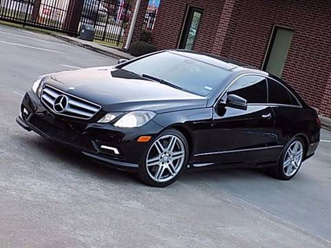 2010 Mercedes-Benz E-Class for sale at Texas Motor Sport in Houston TX