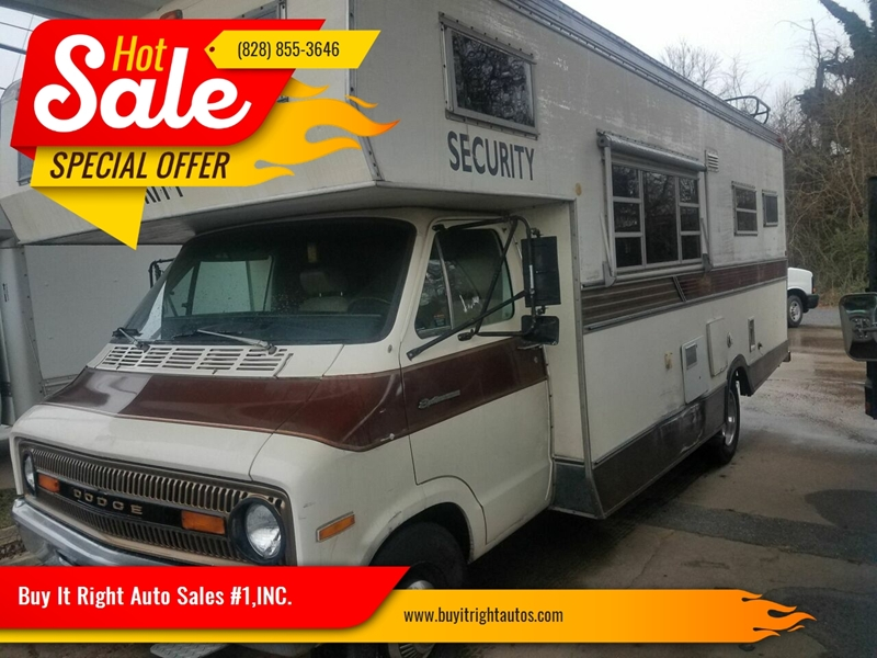 1973 Dodge Motorhome In Hickory NC - Buy It Right Auto Sales