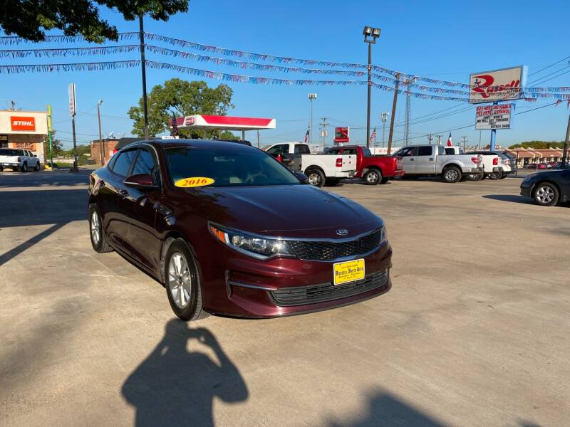 2016 Kia Optima for sale at Russell Smith Auto in Fort Worth TX