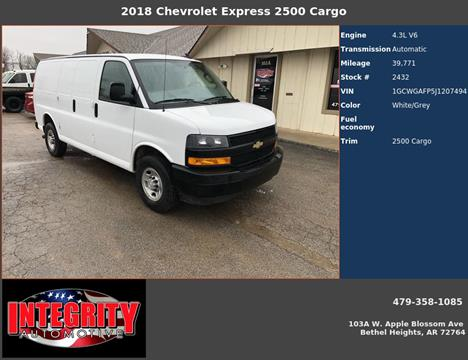 2018 Chevrolet Express Cargo for sale in Bethel Heights, AR