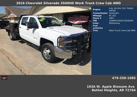 2016 Chevrolet Silverado 3500HD for sale in Bethel Heights, AR