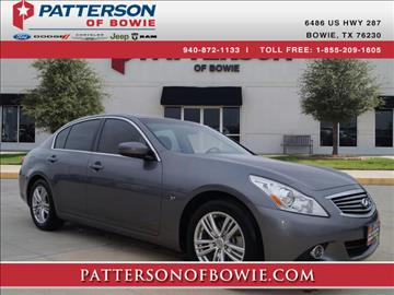 2015 Infiniti Q40 for sale in Bowie, TX
