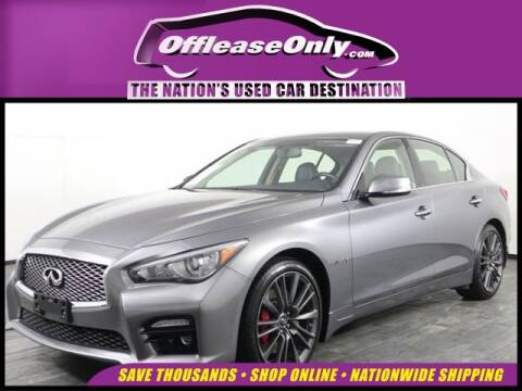 2017 Infiniti Q50 Red Sport 400 for sale at OffLeaseOnly.com The Nation's Used Car Destination in Miami FL