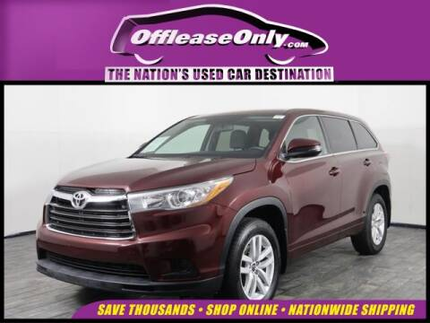2016 Toyota Highlander for sale at OffLeaseOnly.com The Nation's Used Car Destination in Miami FL