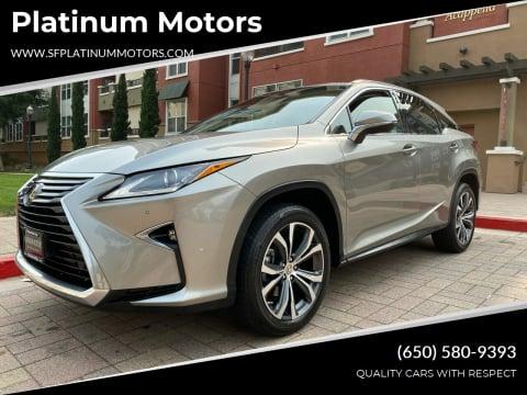 2017 Lexus RX 350 for sale at Platinum Motors in San Bruno CA