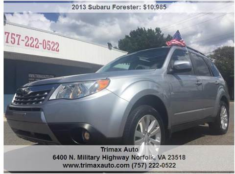 2013 Subaru Forester for sale at Trimax Auto Group in Norfolk VA