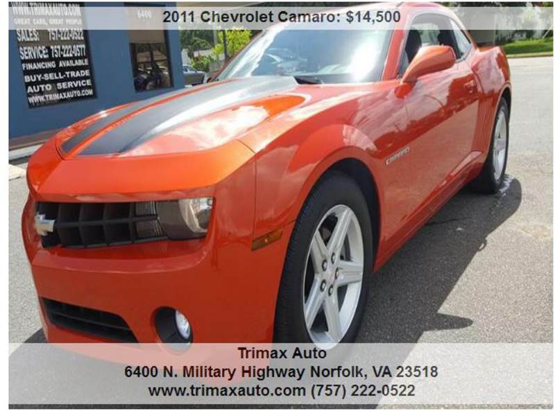 2011 Chevrolet Camaro Lt 2dr Coupe W 1lt In Norfolk Va