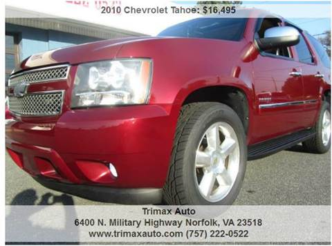 2010 Chevrolet Tahoe for sale at Trimax Auto Group in Norfolk VA