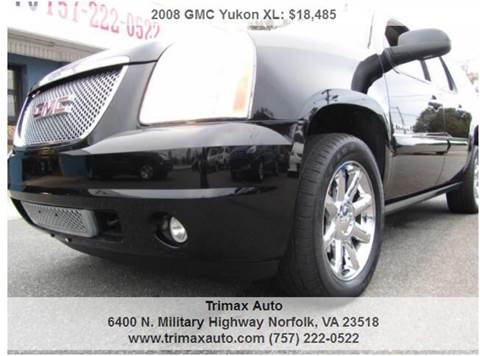 2008 GMC Yukon XL for sale at Trimax Auto Group in Norfolk VA