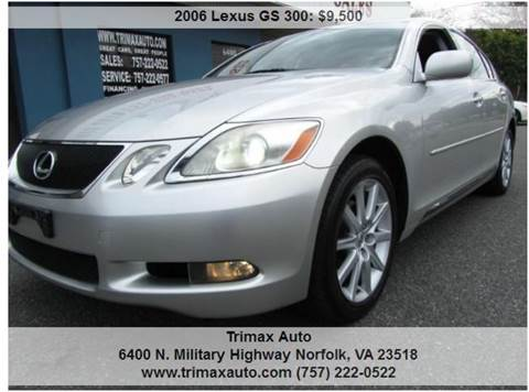 2006 Lexus GS 300 for sale at Trimax Auto Group in Norfolk VA