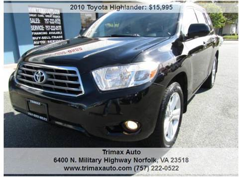 2010 Toyota Highlander for sale at Trimax Auto Group in Norfolk VA
