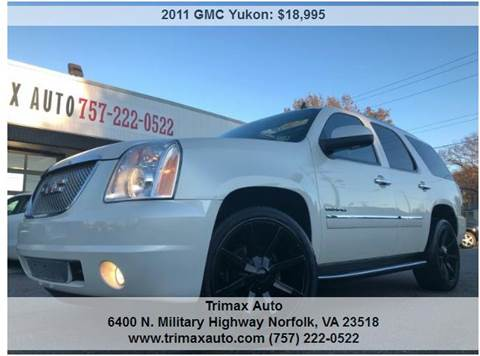 2011 GMC Yukon for sale at Trimax Auto Group in Norfolk VA