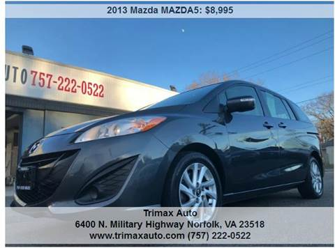 2013 Mazda MAZDA5 for sale at Trimax Auto Group in Norfolk VA