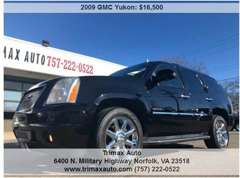 2009 GMC Yukon for sale at Trimax Auto Group in Norfolk VA