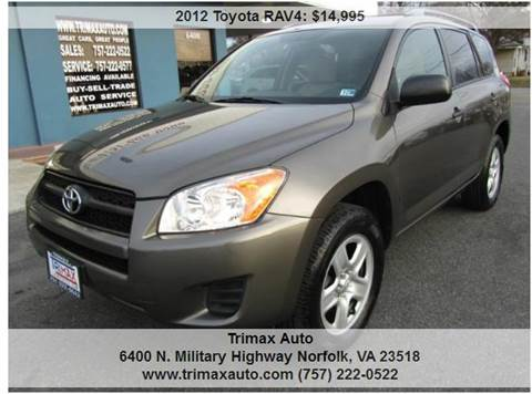 2012 Toyota RAV4 for sale at Trimax Auto Group in Norfolk VA