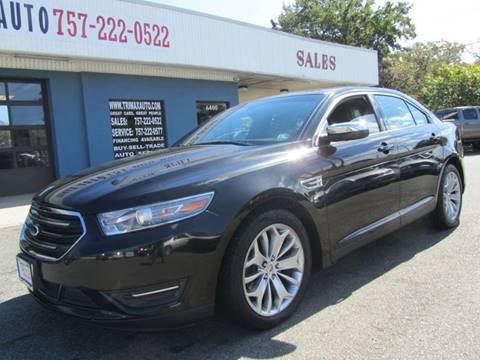 2013 Ford Taurus for sale at Trimax Auto Group in Norfolk VA