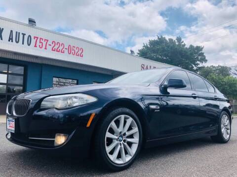 2012 BMW 5 Series for sale at Trimax Auto Group in Norfolk VA