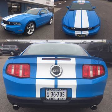 2010 Ford Mustang for sale at Trimax Auto Group in Norfolk VA