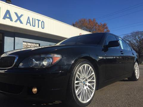 2008 BMW 7 Series for sale at Trimax Auto Group in Norfolk VA