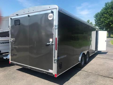 2019 Wells Cargo 8.5x24 Dual Axle Ramp Door