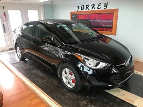 2014 Hyundai Elantra for sale at Forkey Auto & Trailer Sales in La Fargeville NY