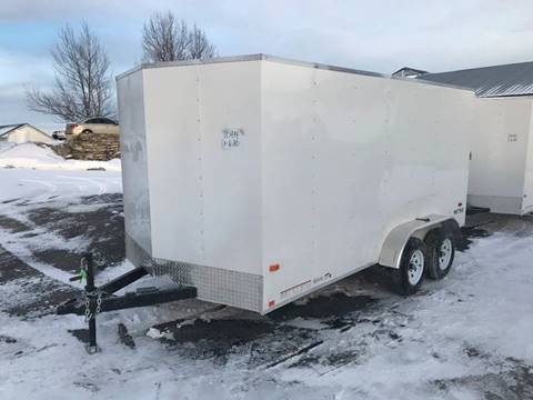 2021 Pace American 7x14 Dual Axle Wedge-Nose  for sale at Forkey Auto & Trailer Sales in La Fargeville NY