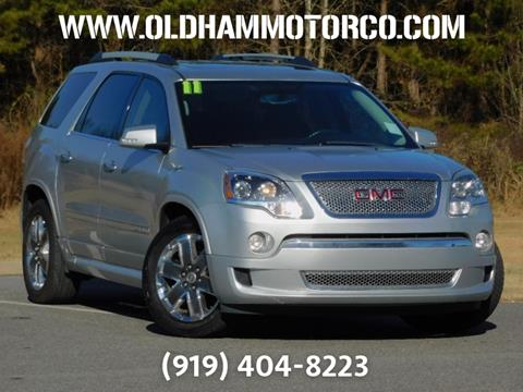 2011 GMC Acadia for sale in Zebulon, NC