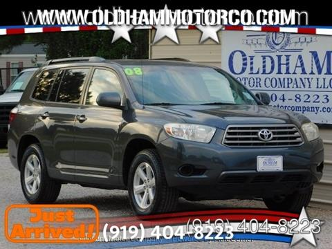 2008 Toyota Highlander for sale in Zebulon, NC