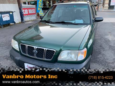 2002 Subaru Forester for sale at Vanbro Motors Inc in Staten Island NY