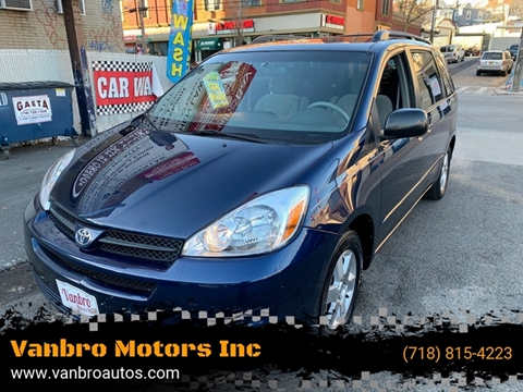 2005 Toyota Sienna for sale at Vanbro Motors Inc in Staten Island NY