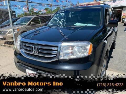2012 Honda Pilot for sale at Vanbro Motors Inc in Staten Island NY