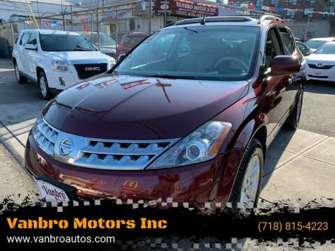 2007 Nissan Murano for sale at Vanbro Motors Inc in Staten Island NY