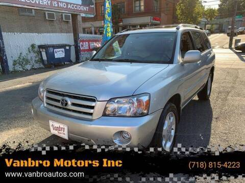 2006 Toyota Highlander for sale at Vanbro Motors Inc in Staten Island NY