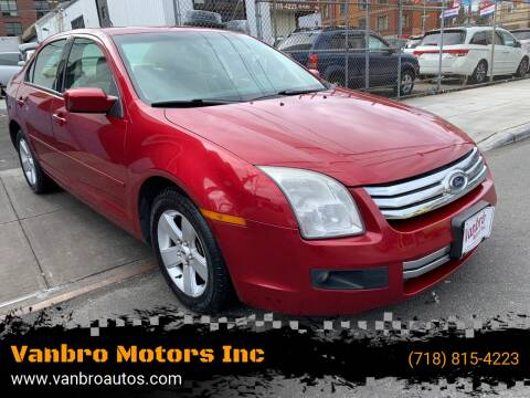 2008 Ford Fusion for sale at Vanbro Motors Inc in Staten Island NY