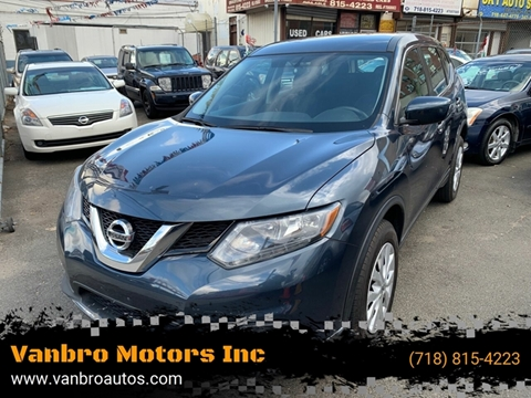 2016 Nissan Rogue for sale at Vanbro Motors Inc in Staten Island NY